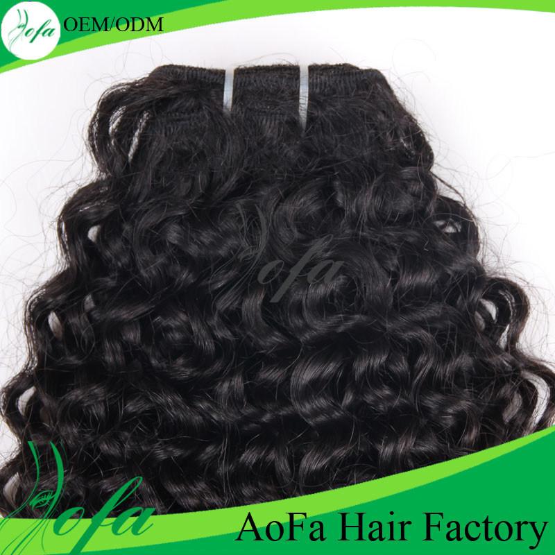 Black Abundant Kinky Curly Mongolian Waving Human Hair