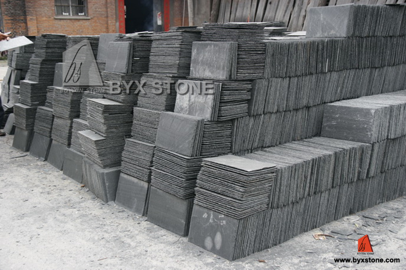 Black/Yellow/Green Slate for Roofing, Flooring and Wall