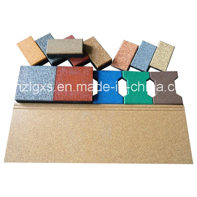 Colorful EPDM Dots Rubber Flooring Tile Carpet Rubber Tile