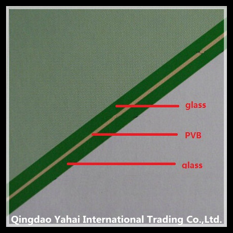 4mm Building Green Laminated Float Glass