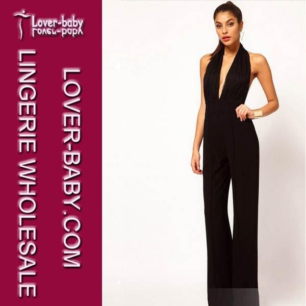 Peplum White Black Long Sleeve Ladies Evening Dress (L36016-2)