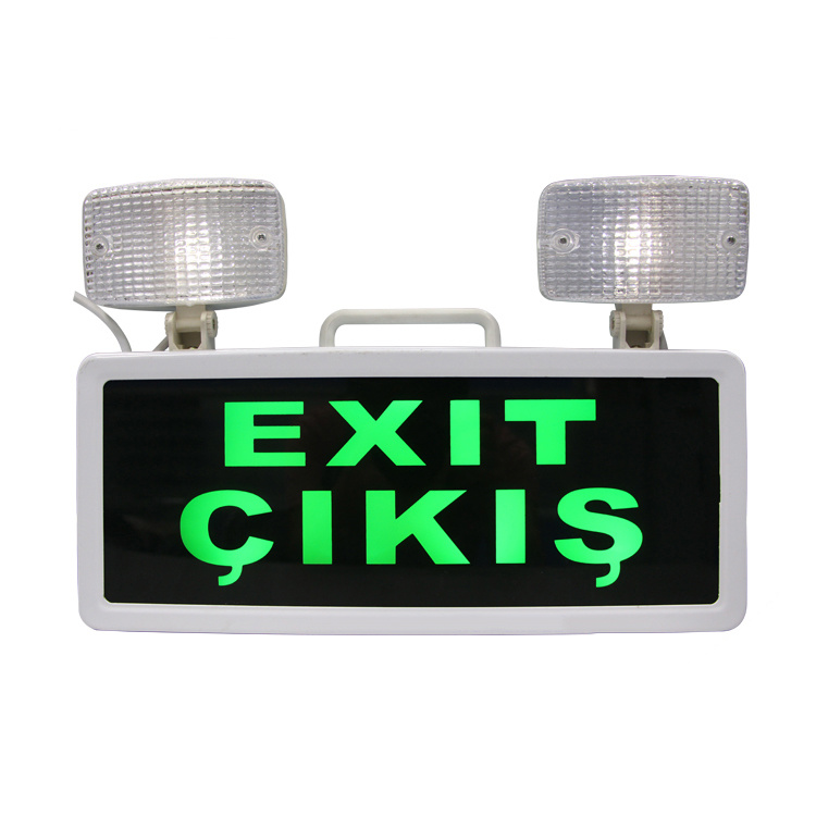 Twin Emergency Light and Exit Signs