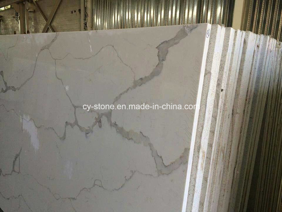 Top Beige/White Calaeatta Marble Slabs for Flooring Tiles/Stair Steps/Bathroom Tiles