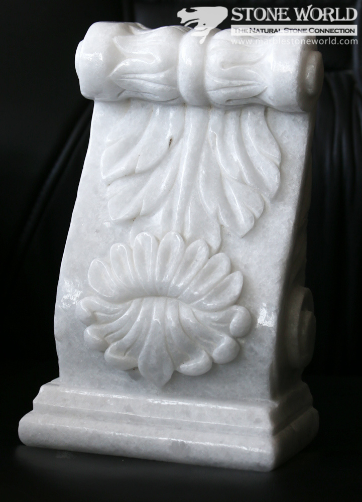 White Tasos Marble Carving for Columns & Art Collection (SC-006)