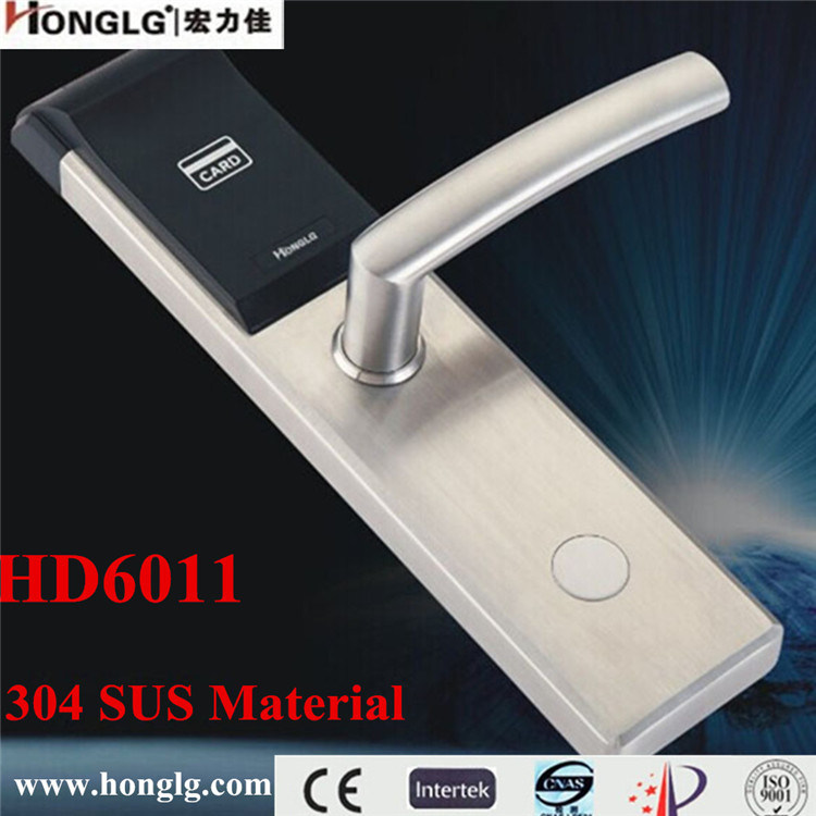 304 Stainless Steel Keyless Electronic Hotel Door Lock (HD6011)