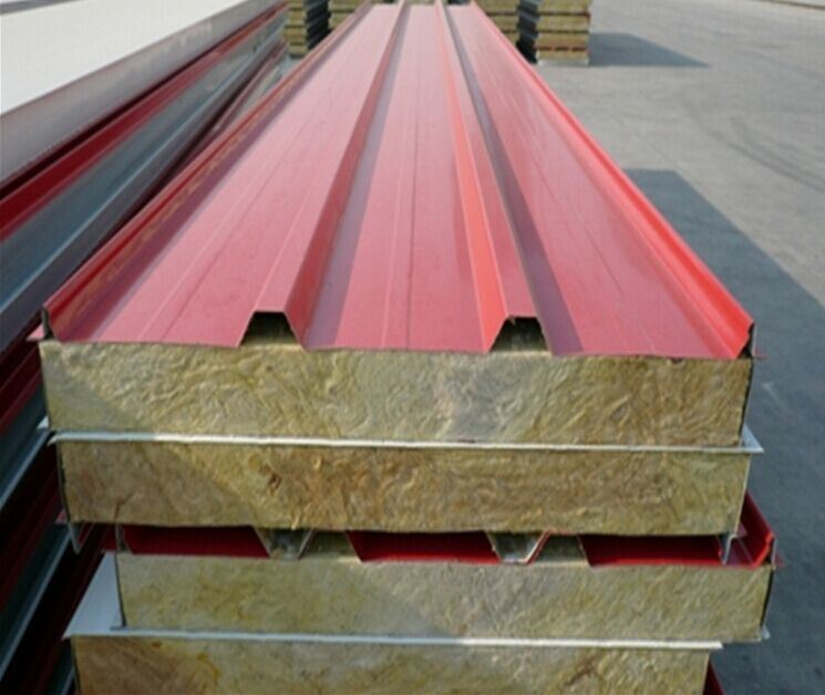 Fire Resistant Rockwool Sandwich Panels for Roof