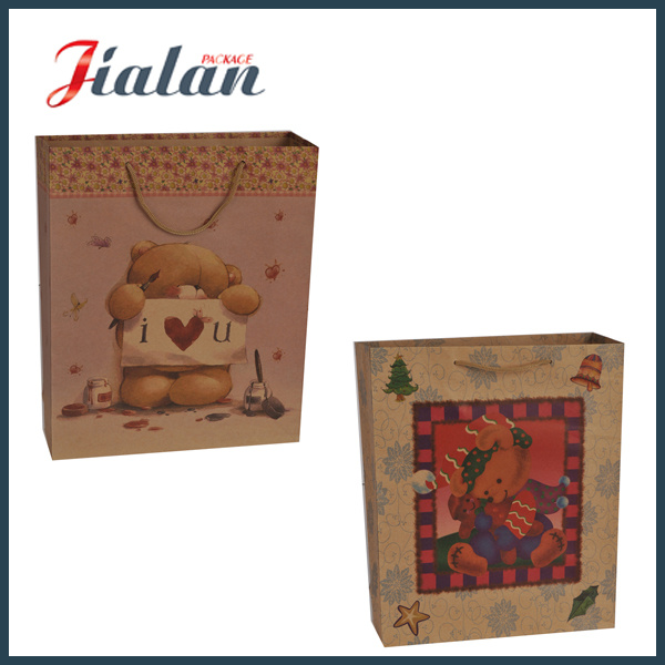 Custom Wholesales Shopping Gift Packing Logo Printed Kraft Paper Bag