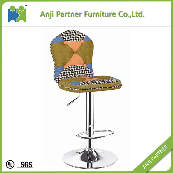Long Durable Cheap Unique Adjustable Retro Patchwork Bar Stool (Podul)