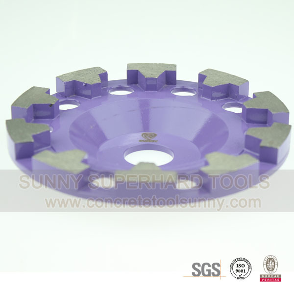 "7"" T Shape Segment Diamond Concrete Floor Grinding Wheel"
