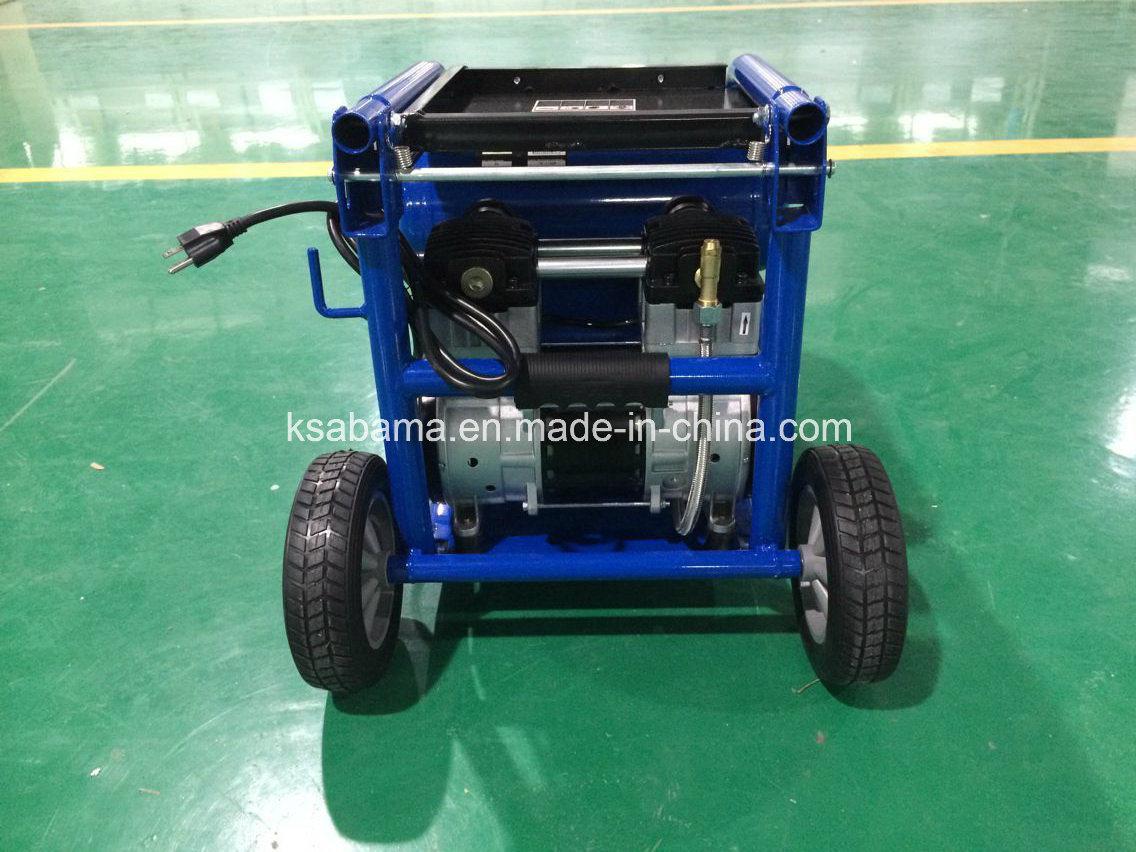 Tat-2518 Oil- Free Silent 1.5HP Manumotive Air Compressor (1.5HP 18L twin tank)