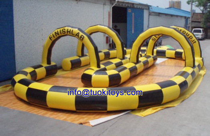 Huge Commercial Inflatable Toy with Tunnel Bouncer Obstacle (B097)