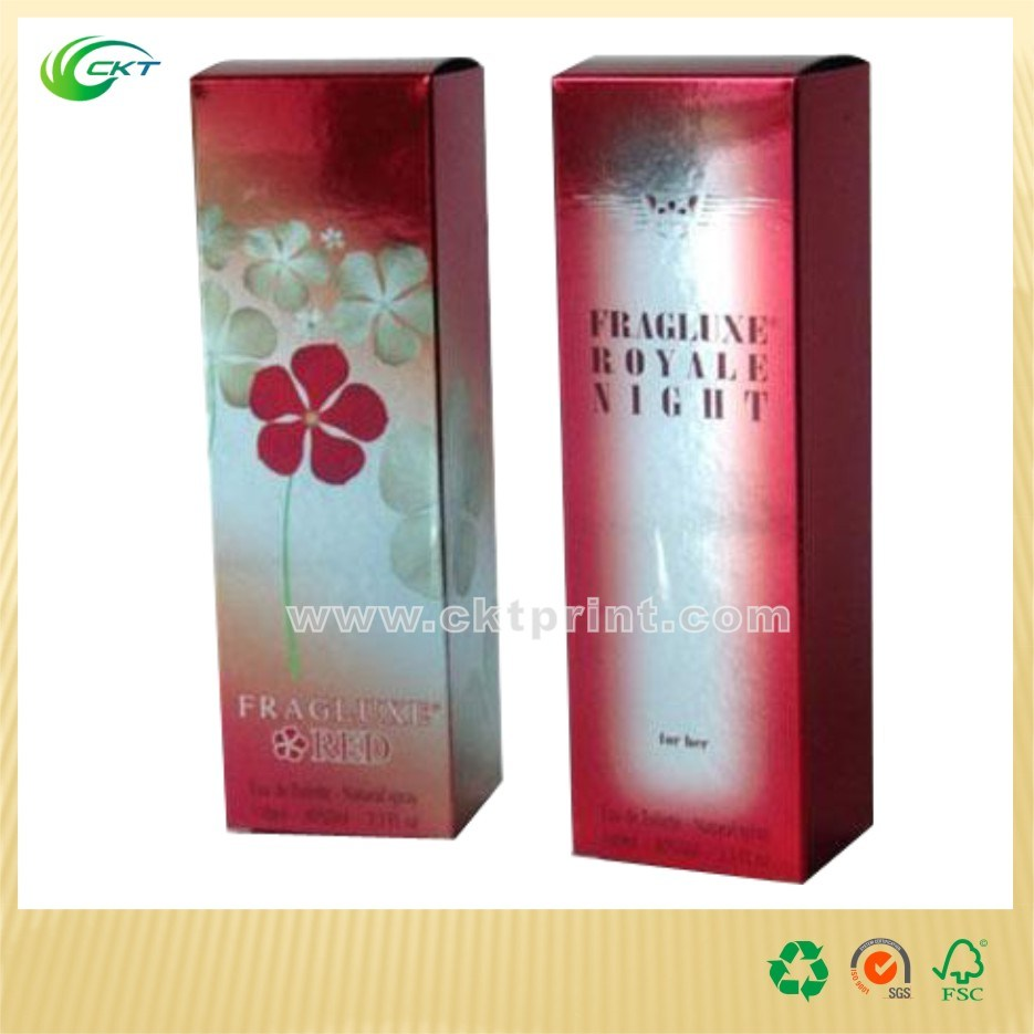 Cosmetic Packing Box with Foil Stamping and UV Spot (CKT-CB-753)