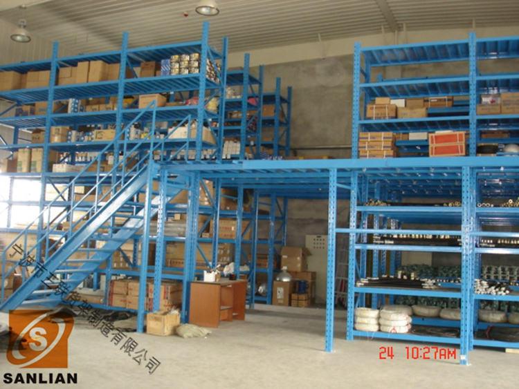Multi-Floor Warehouse Heavy Loading Storage Mezzanine Shelves