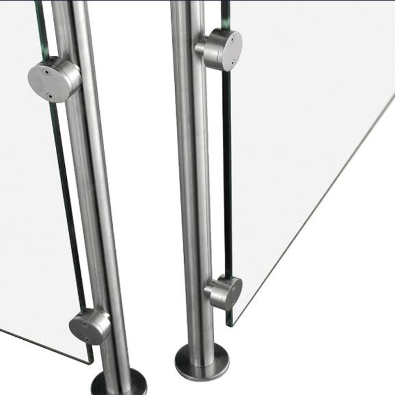 Stainless Handrail Fitting Glass Clamp