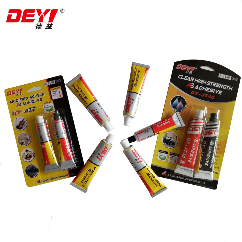 High Quality Latest Transparent Modified-Acrylic Ab Adhesive Glue Jt40