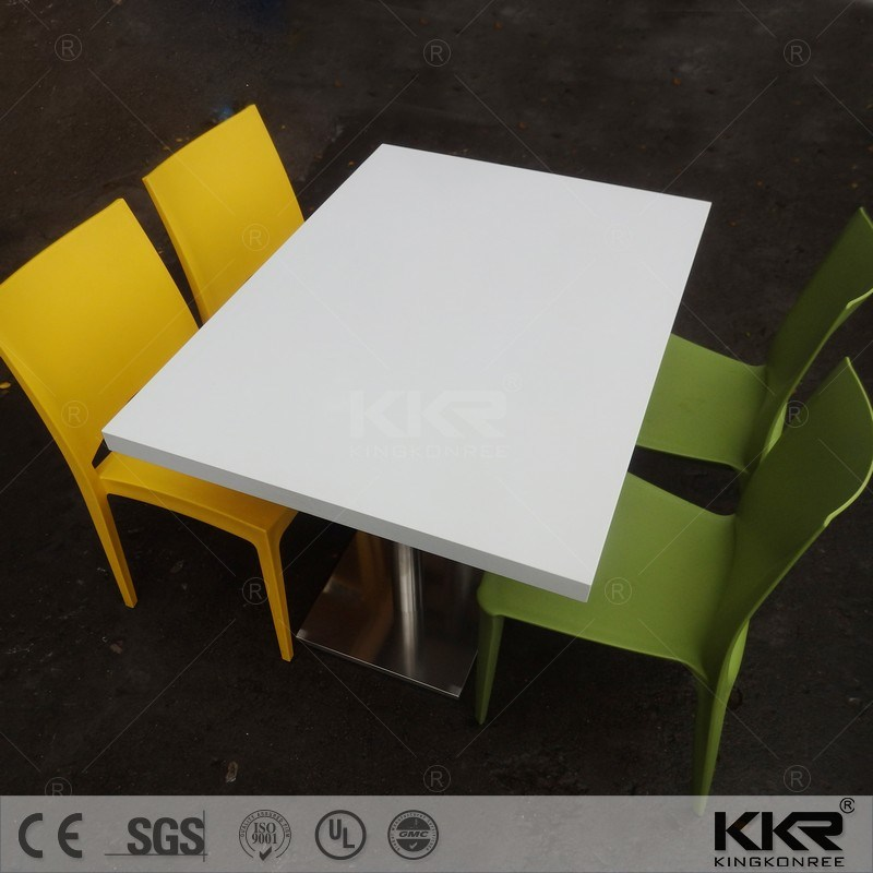 4 Chairs Solid Surface Hotel Restaurant Bar Table (T1708292)
