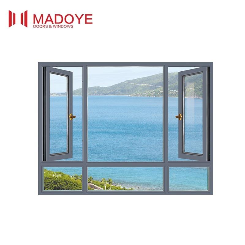 Thermal Break Aluminum Casement Windows for Construction