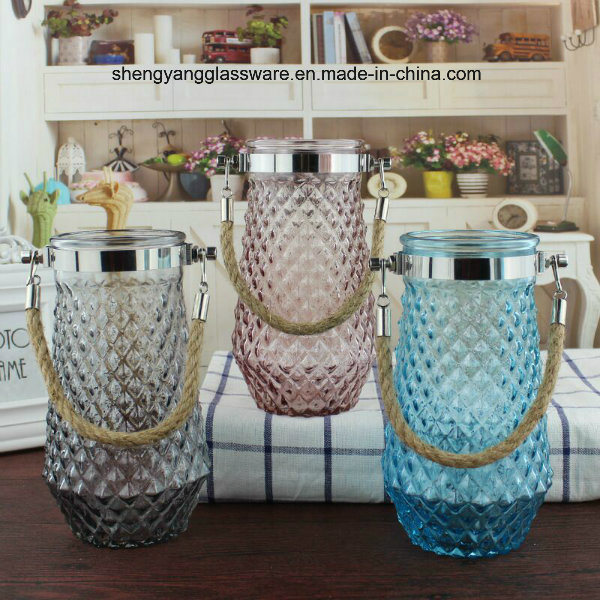 Portable Glass Vase /Home Decorative Glass Vase/ Holiday Articles