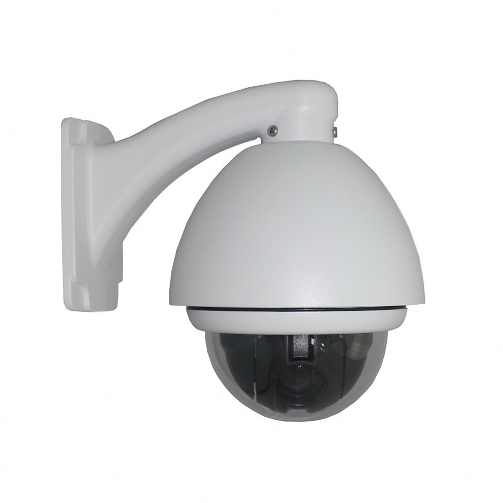 IP-650h H. 264 480tvl Wired CCD Dome IP Camera PTZ Outdoor 10X Zooming