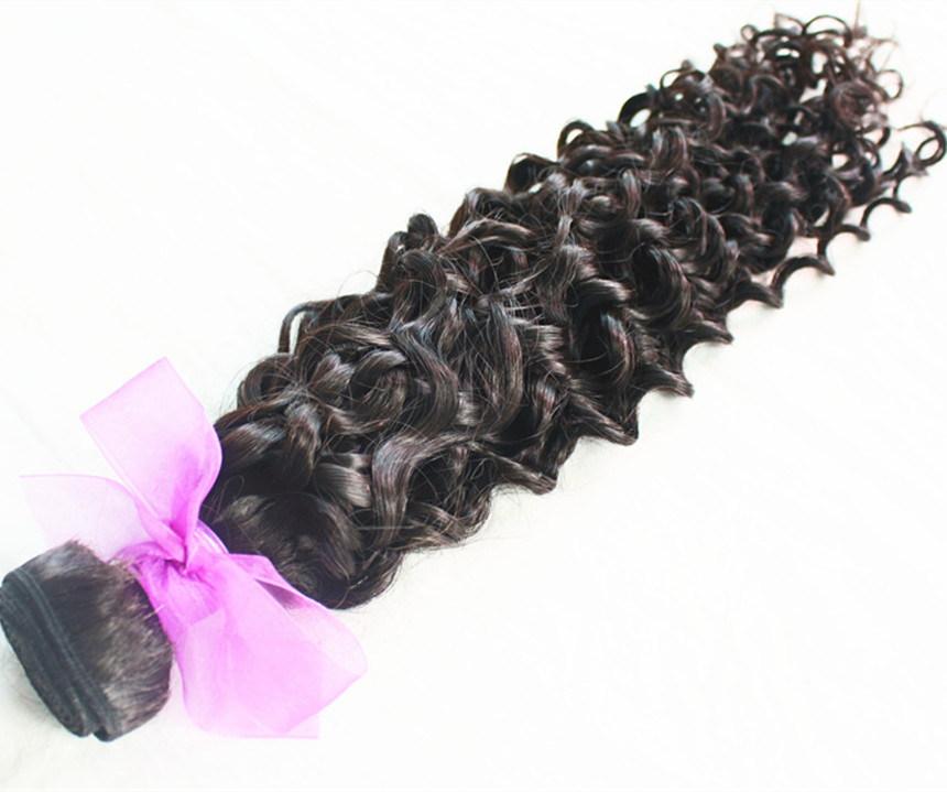 Virgin Human Hair Jerry Curl Natural Color Brazilian Hair Weft
