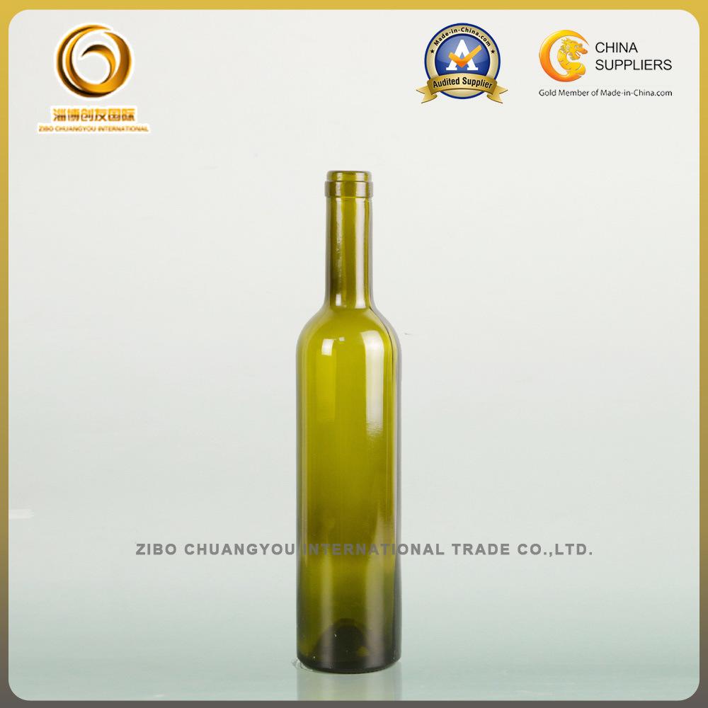 Dark Green Cork Top 500ml Bordeaux Wine Bottle (011)