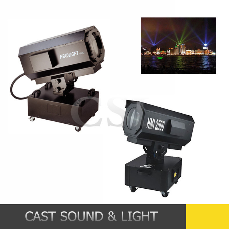 Outdoor Moving Head Search Beam HMI 2500W Sky Rose Light