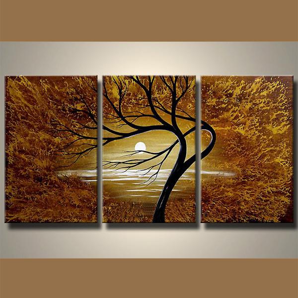 Pintura de paisaje moderno para decoraci n de la casa for Pintura casa moderna