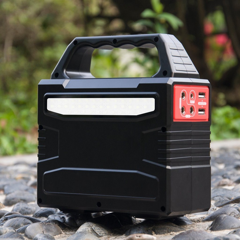 Solar Power System Box with Rechargeable Battery