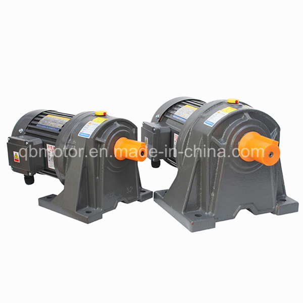 750W Horizontal Aluminum Brake Geared Motor 3-Phase Gear Reducer