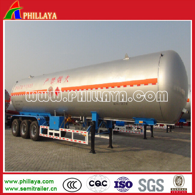 25tons Propane Liquid Gas Transportation Steel Tank LPG Tanker Trailer