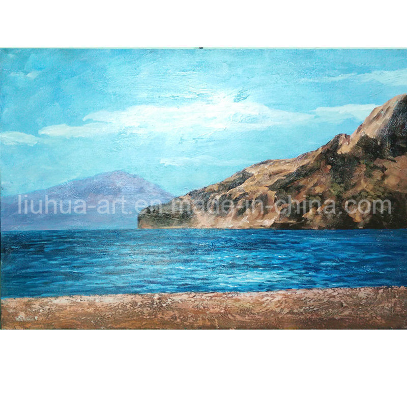 China Factory Silence Mountain Seascape Oil Painting for Wholesale Wall Decor (LH-098000)