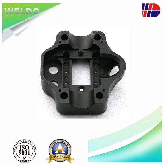 Aluminum 6061/ 6063 CNC Machined Part with Bright Black Anodizing