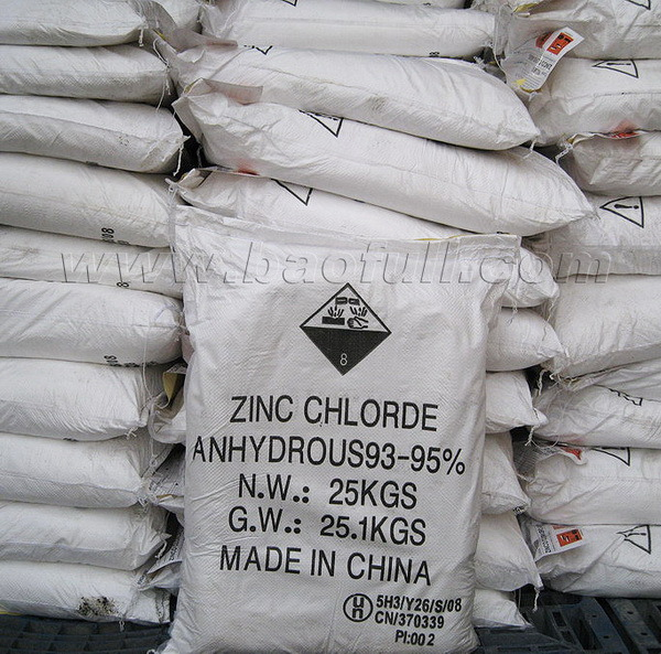SGS Certificated Low Price Zinc Chloride for Industrial Use