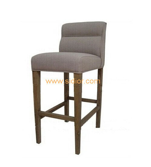 (SD-1011B) Modern Hotel Restaurant Furniture Wooden High Barstool Bar Chair