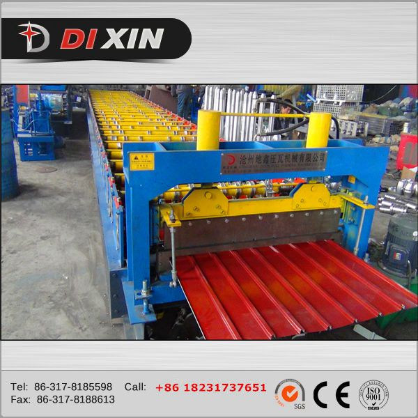 China Manufacturer Dixin Color/Galvanized Steel Roofing Sheet Roll Forming Machine