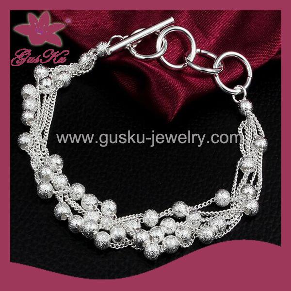 2015 Cpb-003 China′s Cheap 925 Silver Chain Bracelet