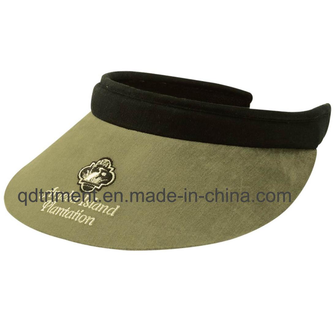 Comfortable Sweatband Long Bill Clip-on Custom Leisure Sun Visor (TRV015)