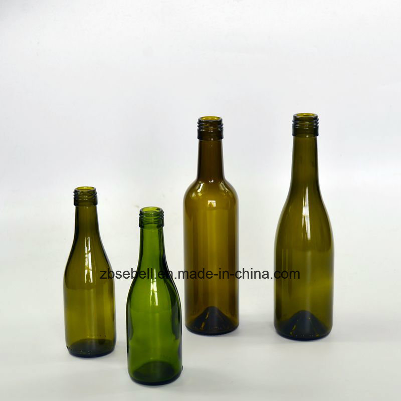 Glass Bottles for Red Wine with Bordeaux, Burgundy Type