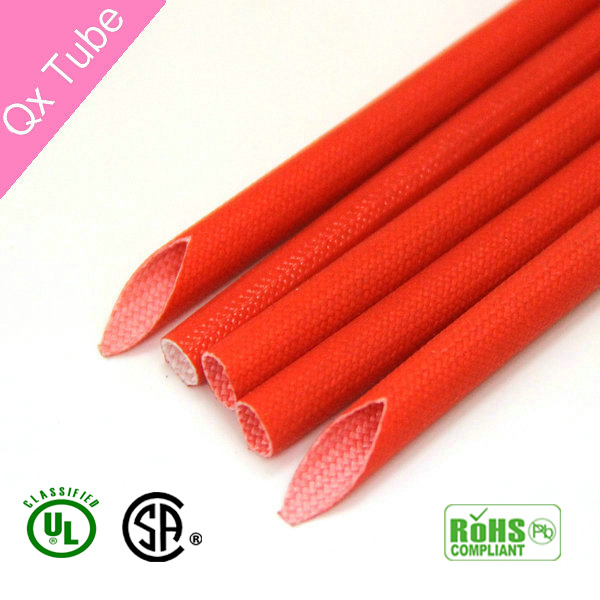 RoHS Flexible Colored Braided Silicone Fiberglass Tube