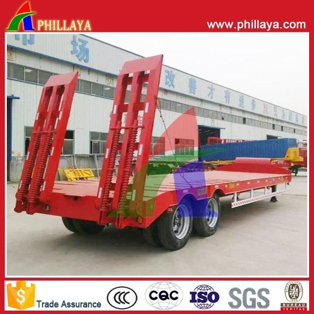 40tons 2 Axles Heavy Duty Truck Low Bed Trailers