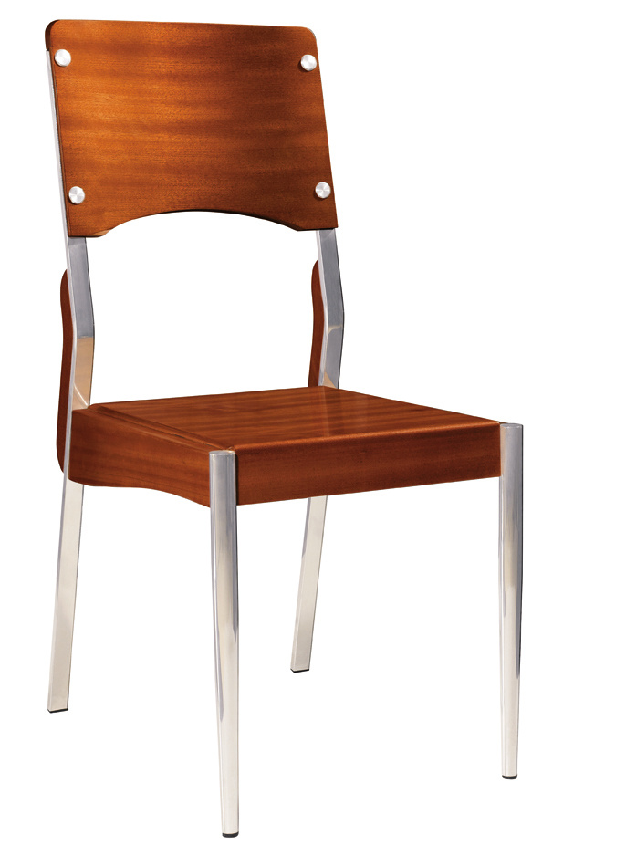China Wood And Metal Dining Chair Cy 17 China