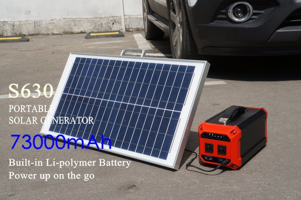 Home Solar Generator Portable Solar Energy System 270Wh with Solar Panel