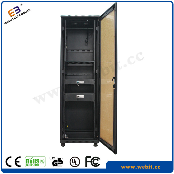 Perspex Front Door Network Cabinet with Drawer