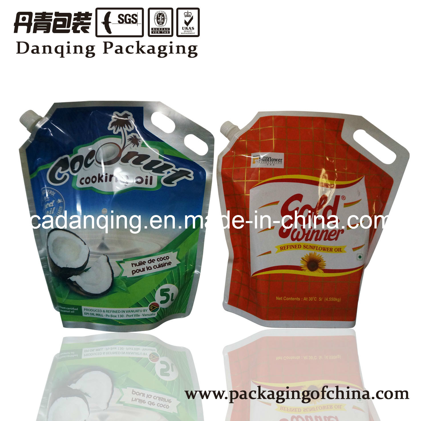 Non-Leakage Free-Standing Pouch with Spout and Hole (DQ0057)