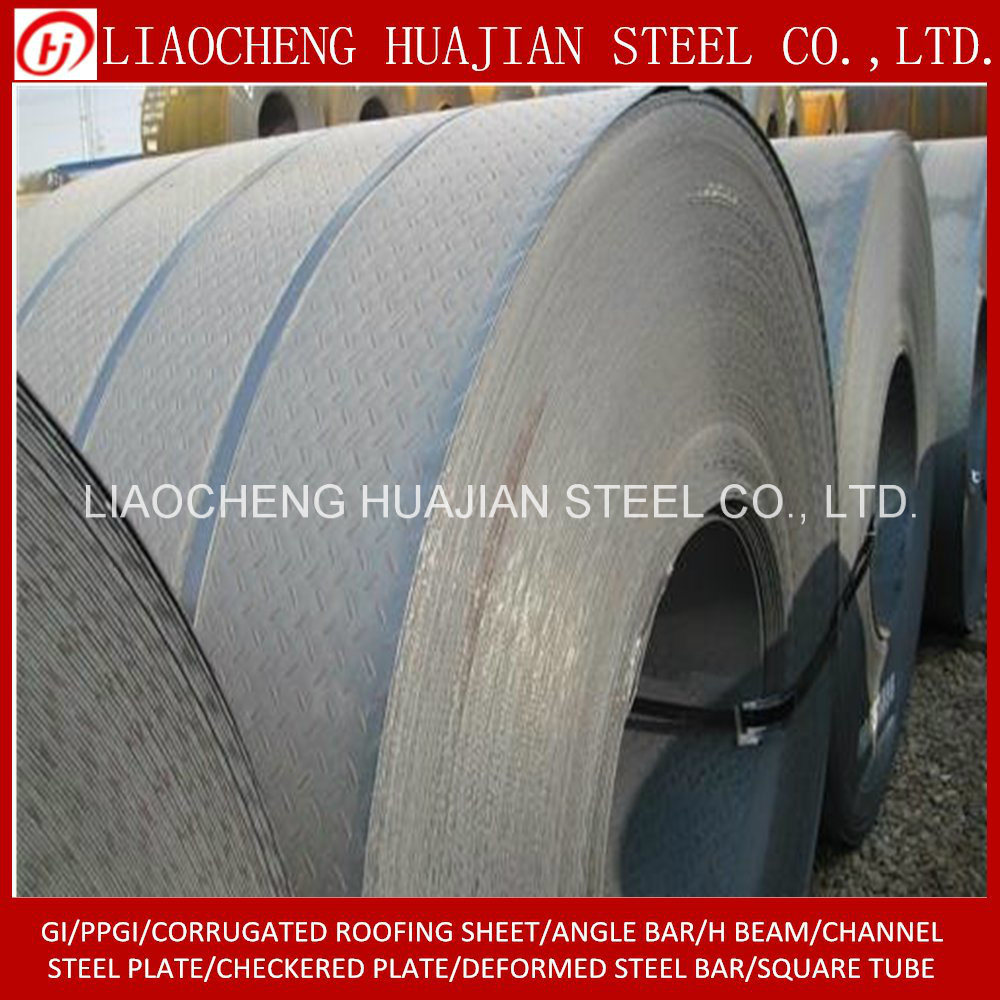Stock Hr Checkered Plate of Q235B Material