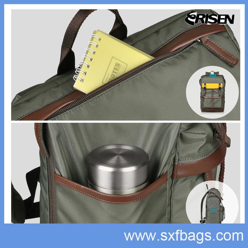 Nylon Waterproof School Laptop Backpack Bag