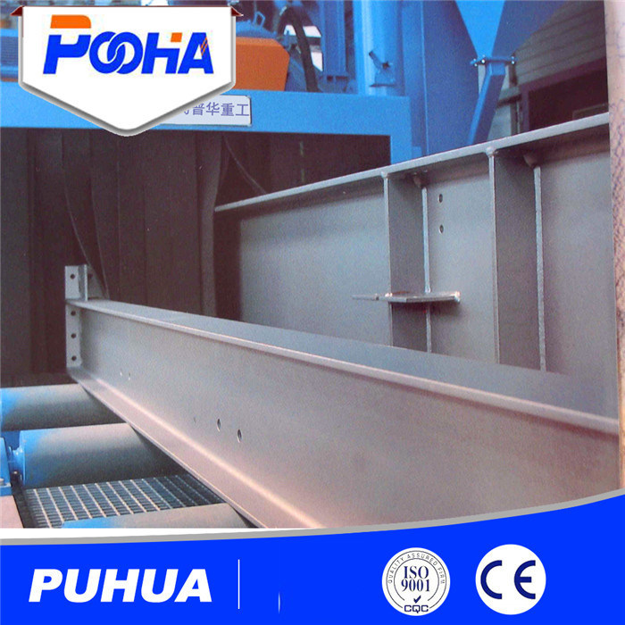 Q69 Roller Conveyor Steel Wheel Shot Blasting Machine