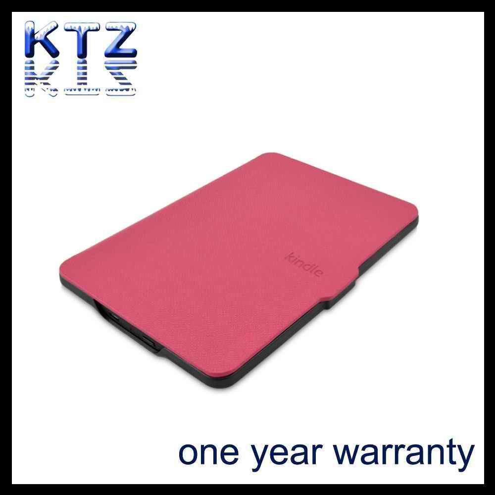 Factory Wholesale High Quality Amazone Kindle Paperwhite Leather Case Leather Cover PU Cover with Sleep-Wake