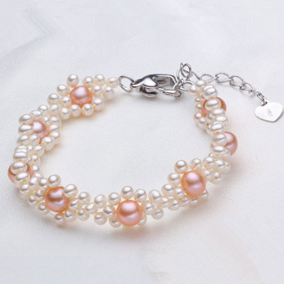 Fancy Freshwater Cultured Pearl Bracelet Jewelry (E150033)