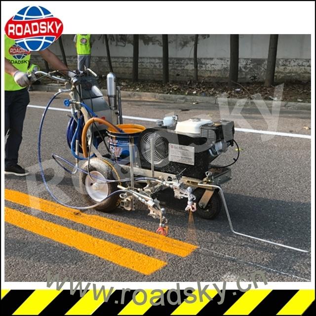 Traffic Line Cold Paint Equipment Airless Spraying Road Marking Machine
